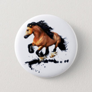 Lord Creedence Gypsy Vanner Horse 2 Inch Round Button