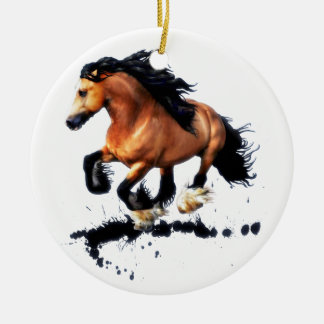 Lord Creedence Gypsy Vanner Horse Ceramic Ornament