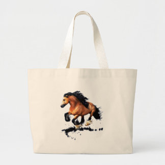 Lord Creedence Gypsy Vanner Horse Large Tote Bag