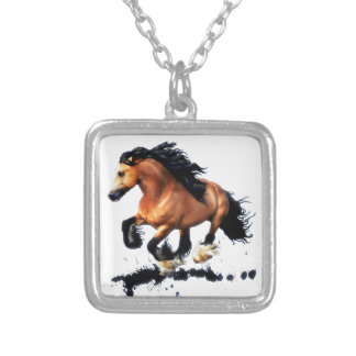 Lord Creedence Gypsy Vanner Horse Silver Plated Necklace
