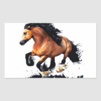 Lord Creedence Gypsy Vanner Horse Sticker
