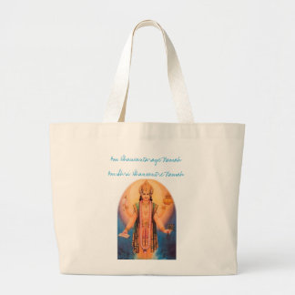 Lord Dhanwantari Large Tote Bag
