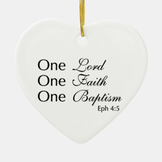 Lord Faith Baptism Ceramic Ornament
