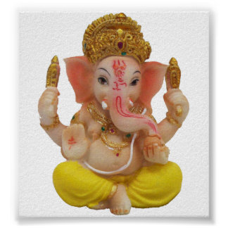 Lord Ganesh, Great Hindu God For Happiness Poster