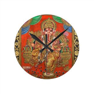 LORD GANESH HINDU DEITY ROUND CLOCK