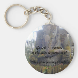 Lord Ganesh ~ remover of obstacles & prote... Basic Round Button Keychain