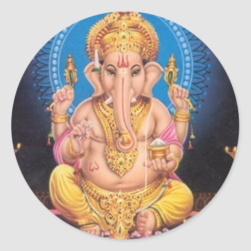 Lord Ganesh Round Sticker