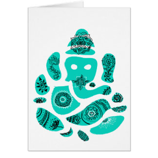 Lord Ganesha Greeting Card, envelopes included Card