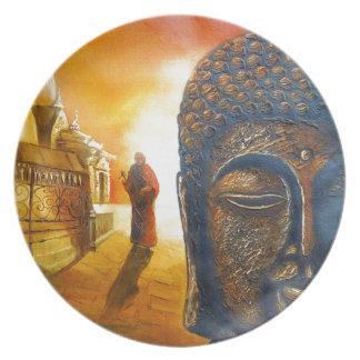 Lord Gautama Buddha Dinner Plates