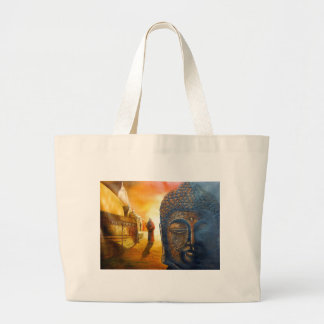 Lord Gautama Buddha Large Tote Bag