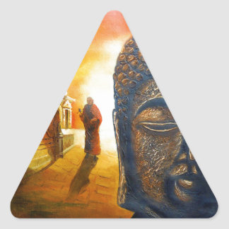 Lord Gautama Buddha Triangle Sticker