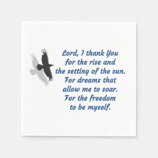 Lord I Thank You for the Freedom Disposable Napkin