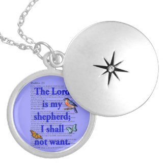 Lord is my shepherd silver plated necklace