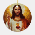Lord Jesus Christ and the Sacred Heart Christmas Ornament