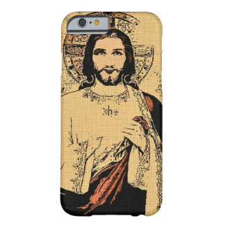 Lord Jesus Denim Cloth Art iPhone Barely There iPhone 6 Case