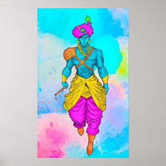 Lord Krishna Poster Coloured