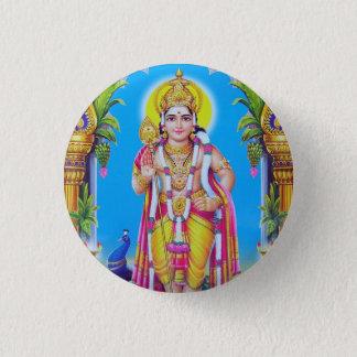 Lord Muruga, Hindu God 1 Inch Round Button