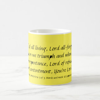 LORD OF ALL LIVING Verse3 Mug Stephanie Hutchinson