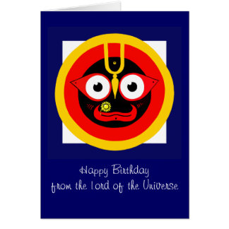 Lord of the Universe Birthday Card