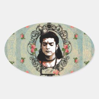 Lord Rama Indian Bollywood Yoga Meditation God Oval Sticker