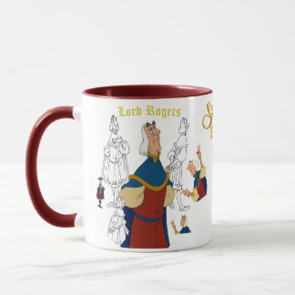 Lord Rogers Sketch Mug with Colored Rim&Handle