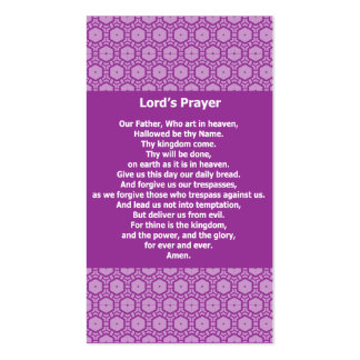 Lord s Prayer Evangelical Witness Cards Business Card Templates