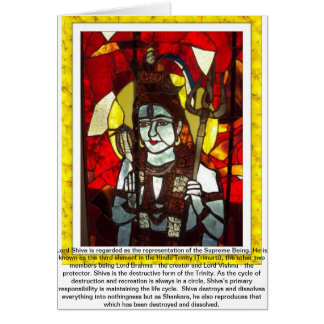 Lord Shiva deity of Hindu Trinity Card