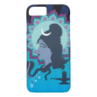 Lord Shiva Digital Illustration with Mandala Art iPhone 8/7 Case