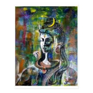 Lord Shiva postcard