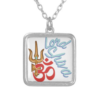 Lord Shiva Silver Plated Necklace
