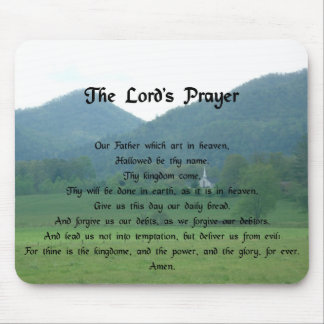 Lord's Prayer at Wolf Fork Valley Mouse Pad