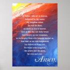 Lords Prayer Christian Inspirational Spiritual Poster