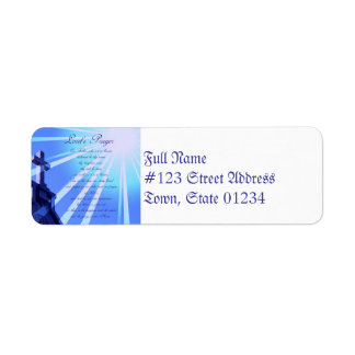 Lord's Prayer Design Address Labels