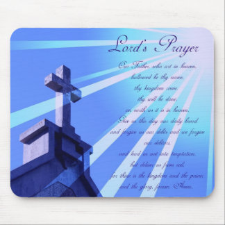 Lord's Prayer Design Mouse Pad