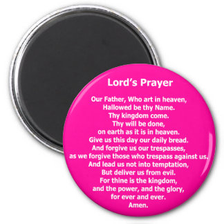 Lord's Prayer Magnet - Pink