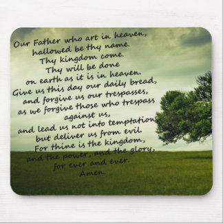 Lords Prayer Mousemat Mouse Pad