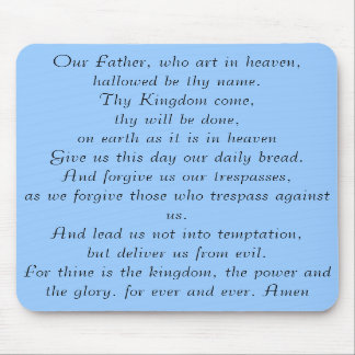 Lords prayer mousepad
