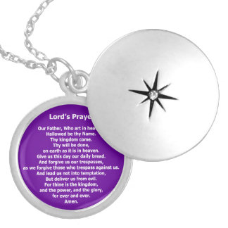 Lord's Prayer - Our Father Locket Necklace