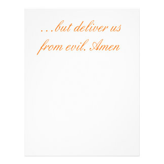 Lord's Prayer Personalized Letterhead