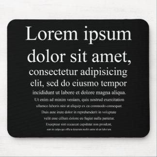 Lorem Ipsum Tapis De Souris