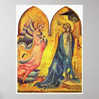 Lorenzo Monaco - Annunciation Poster