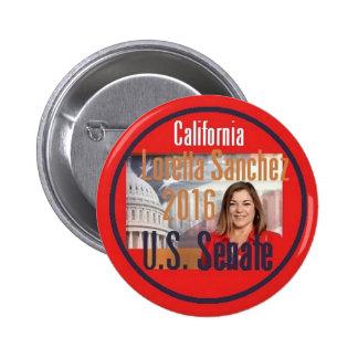 Loretta SANCHEZ Senate 2016 2 Inch Round Button