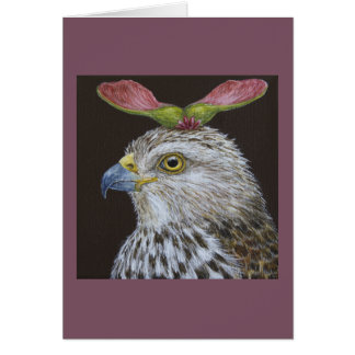 Loretta the Cooper's hawk greeting card