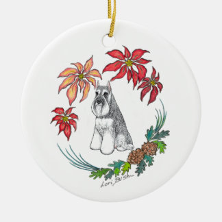 Lori Bush Schnauzer Ornament