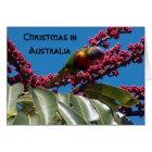 Lorikeet Feeding, Christmas in, Australia Card