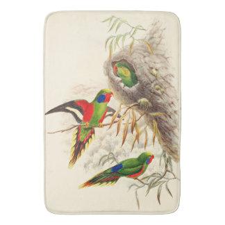 Lorikeet Parrot Birds Wildlife Animals Bath Mat