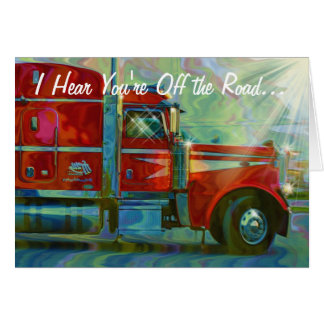 LORRY DRIVERS & TRUCKERS Get Well Soon Card