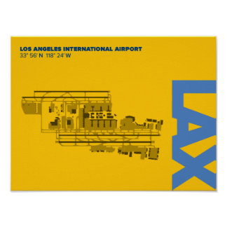 Los Angeles Airport (LAX) Diagram Poster