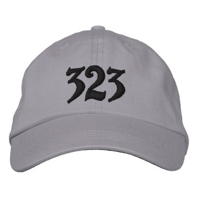 Los Angeles Area Code 323, or use your area code. Embroidered Baseball Caps