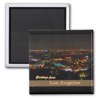 Los Angeles At Night From Mulholland Drive Magnet